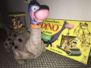 MARX DINO Dinosaur Flintstone WORKS & GAME Battery Operated