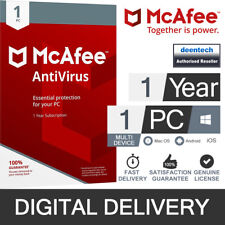 McAfee Antivirus Plus 2019 (1PC/1Year) Genuine Authentic License Windows