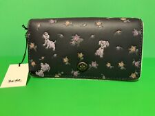 Disney X Coach Dinky Mixed Dalmatians Print Pewter/Ink Leather Crossbody Purse