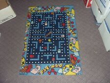 Vintage Pac-Man Carpet Rug 1980s Midway Bally Official Pacman Retro Rare Offcut
