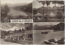 LAGO DI S.CROCE - VEDUTINE CON ALBERGO - FARRA D'ALPAGO (BELLUNO) 1961