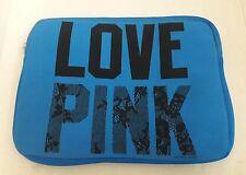 Victorias Secret  laptop sleeve case Bag BLUE LOVE PINK bag Padded