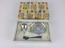 Baby Christening Set With Silver Plated Spoon Gift Present Girl Boy