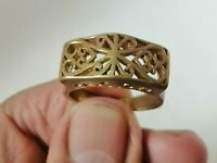 Rare Extremely Ancient Roman Ring Bronze Artifact Authentic Very Stunning