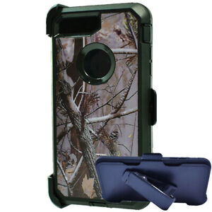 For iPhone 6s 7 8 Plus Shockproof Defender Camo Hard Case w/Clip fits Otterbox
