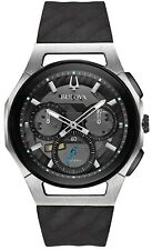 Bulova Rubber Chronograph Mens Watch 98A161