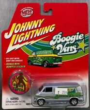 JOHNNY LIGHTNING 1976 DODGE D-150 BOOGIE VANS WITH MINI BUMPER STICKER FREE SHIP