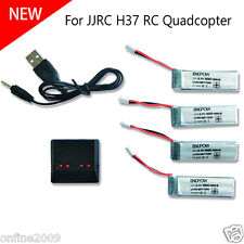 3.7V 500mAh Li-Polymer Battery +A Four Charger For JJRC H37 RC Quadcopter HOT