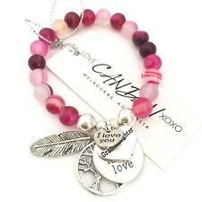 I Love You Granddaughter Friendship Bracelet Angel Feather Keepsake Tree Of Life