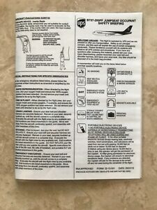 UPS United Parcel Service Airlines B757-200  Passenger Jumpseat Safety Card 2013