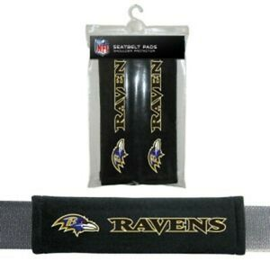 Baltimore Ravens NFL Auto Gym 2pc Seat Belt Pads / Shoulder Pads Covers -New