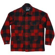 Vtg Pendleton Outdoors Man Red Buffalo Plaid Lined Hunting Shirt Jacket Medium