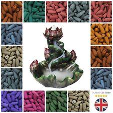 BACKFLOW Indian Incense Burning Cones Fragrance's Aroma Spa Insense Back Flow UK