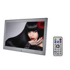 """@118571 Hama digitaler Bilderrahmen 13,3"""" LED MP3 MP4 Uhr 8GB USB Video FULL HD"""