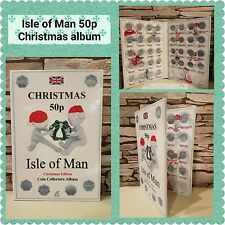 ISLE OF MAN 50p CHRISTMAS COIN ALBUM 1980-2019 - LIMITED EDITION with Mintage!