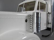 Pair Aluminum Air Intake Tank light Bracket for Tamiya RC 1/14 Semi King Hauler