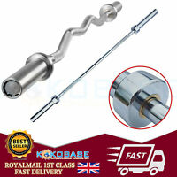 """Olympic Bar 2"""" Weight Lifting Barbell Weights & Spring Collars Gym Fitness"""
