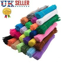 "Pipe Cleaners And Crafts Chenille Art Diy Colour 30cm 12"" Long 50/100/200 Pack✅✅"