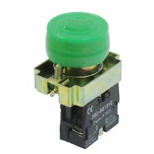 22mm NO N/O Green Sign Momentary Push Button Switch 600V 10A ZB2-BP31