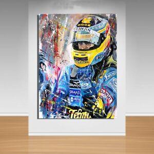 F1 Canvas Wall Art - Fernando Alonso