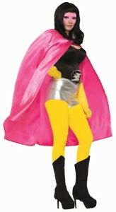 Pink ADULT Unisex Superhero Cape One Size Costume Accessory NEW Mens Womens