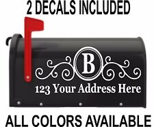 CUSTOM PERSONALIZED Initial VINYL MAILBOX DECAL - SET OF 2 - 5X12