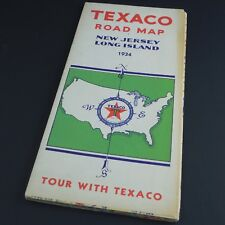 TEXACO New Jersey / Long Island Vintage Road Map —  FULL Color, 64 pgs. c.1934
