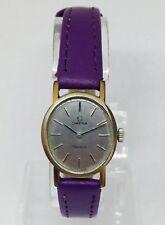 Vintage Mujer OMEGA GENEVE Mecánico Reloj. 20x22mm Dial de plata.