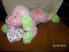 Caltoy Pink Green Heart For You Dog Plush
