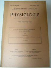 Fredericq : Etude du syndrome surrénoprive de la grenouille  1937