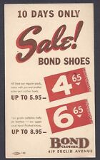 1943 BOND CLOTHES SALE FOR SHOES, NEW YORK NY