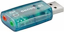 Adaptateur Carte son 5.1 USB audio Micro/Casque 3D