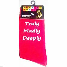 Mens Red Romantic Truly Madly Deeply Socks - X6-TMD