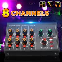 Portable Mini 8 Channels USB Mixer Live Studio Audio Mixing Console DC12V 60HZ