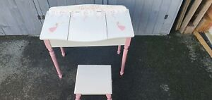 Girls Fairy Dressing Table and Stool, Great Little Trading Co. White and Pink