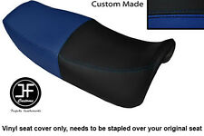 ROYAL BLUE AND BLACK VINYL CUSTOM FITS HONDA VF 750 F 83-84 DUAL SEAT COVER ONLY
