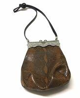 VTG James Culver Moulin Rouge Snakeskin Leather Handbag Purse