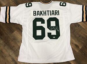 David Bakhtiari Packers Signed Autographed Replica Jersey BECKETT Hologram E