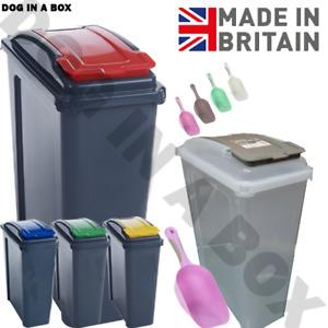 25L Big Pet Food Dry Feed Container Animal Dog Cat Storage Box Bin & Scoop Slim