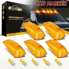 5pcs Roof Running Light Amber Covers+High Power T10 Amber 5730 LED for Chevy GMC
