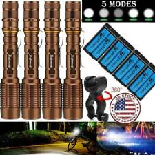 Tactical Police 35000Lumens 5-Mode T6 LED Flashlight Focus Zoomable Torch Light