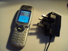 ORIGINAL RETRO COLLECTIBLE SHARP GX1 ON TESCO ,O2 MOBILE PHONE +CHARGER WORKING