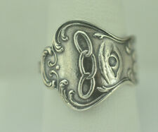 Beautiful 925 Sterling Silver IOOF Masonic Spoon Ring