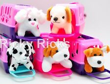 12 Pet Shop Toy Dogs+Carrying Case Kids Cute Gift Puppy Stuffed Animal WHOLESALE
