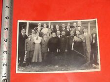 JA345 Vintage Real Photo Family Group Photo Woman with Fiddle or Violin Choir