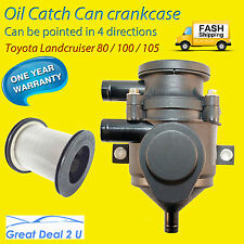 PRO 80 105 100 series Oil Catch Can Stainless Filter Toyota Landcruiser Small