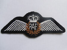 WWII Royal Air Force Pilot wings  - iron on embroidered patch