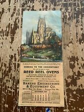 1937 Reed Reel Ovens Bakers Engineering & Equipment Co Kansas City MO Blotter