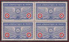 "SUPERBE BLOC DE 4 VIGNETTES** ""LIGUE AERONAUTIQUE"" de FRANCE 1928, Cinderella"
