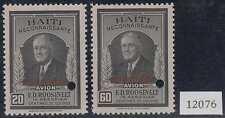 "HAITI 1946 ROOSEVELT Sc C33-C34 FULL SET PERF PROOFS + ""SPECIMEN"" MNH"